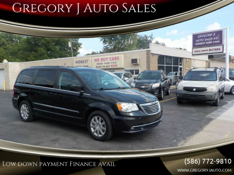 2013 Chrysler Town and Country for sale at Gregory J Auto Sales in Roseville MI