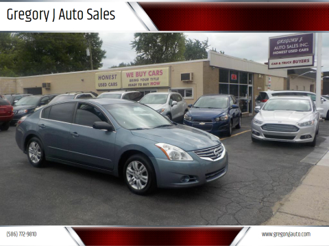 2012 Nissan Altima for sale at Gregory J Auto Sales in Roseville MI