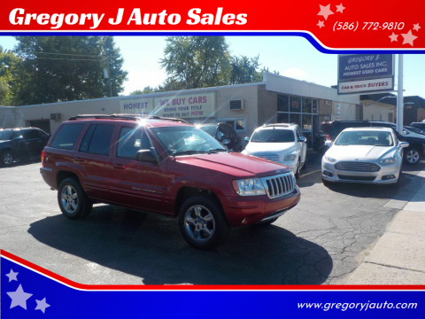 2004 Jeep Grand Cherokee for sale at Gregory J Auto Sales in Roseville MI