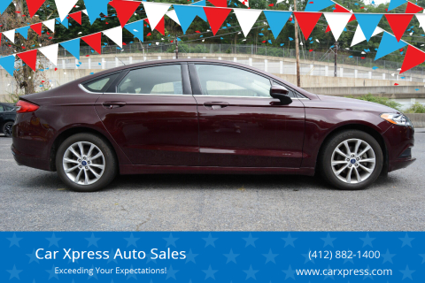 2017 Ford Fusion for sale at Car Xpress Auto Sales in Pittsburgh PA