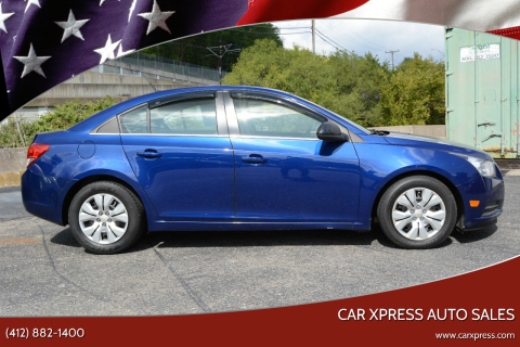 2012 Chevrolet Cruze for sale at Car Xpress Auto Sales in Pittsburgh PA