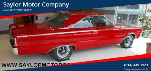 1967 Plymouth Belvedere for sale in Somerset, PA