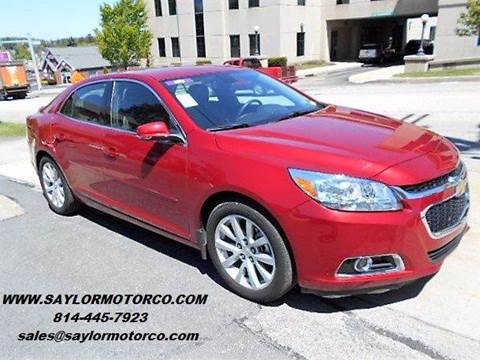 2014 Chevrolet Malibu for sale at Saylor Motor Company in Somerset PA