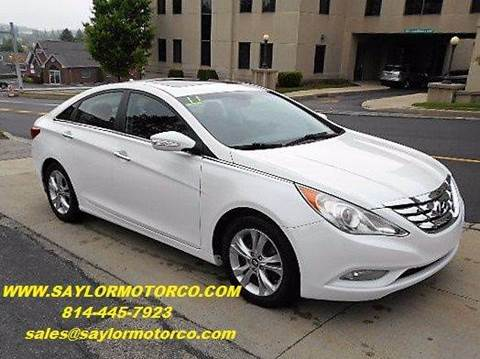 2011 Hyundai Sonata for sale at Saylor Motor Company in Somerset PA