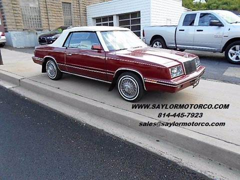 1984 Chrysler Le Baron for sale in Somerset, PA