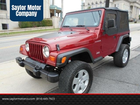 1999 Jeep Wrangler Sport For Sale In Somerset, PA