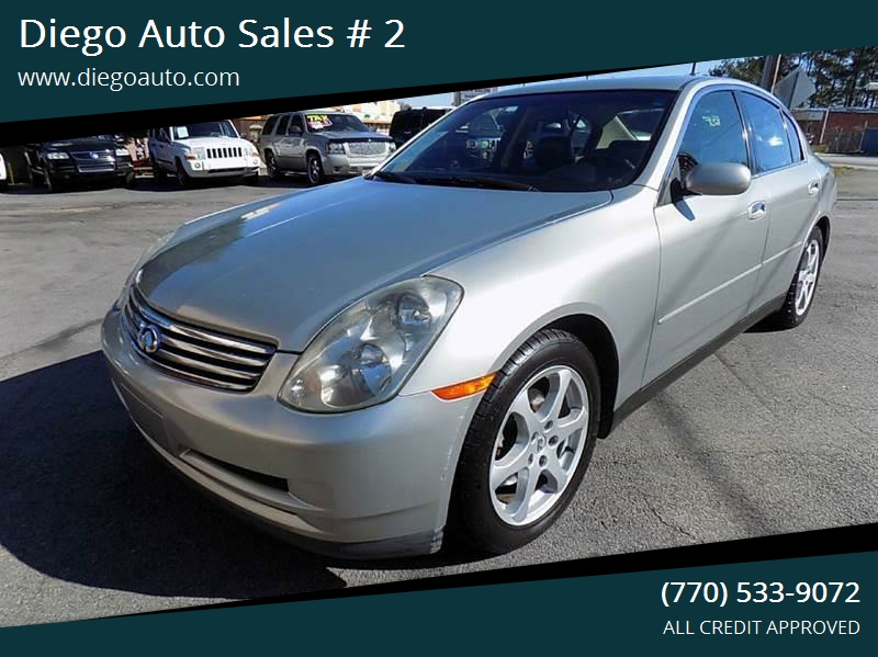 2003 Infiniti G35 Luxury 4dr Sedan Wleather In Gainesville Ga