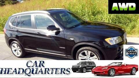 2012 BMW X3 xDrive35i for sale at CAR  HEADQUARTERS in New Windsor NY