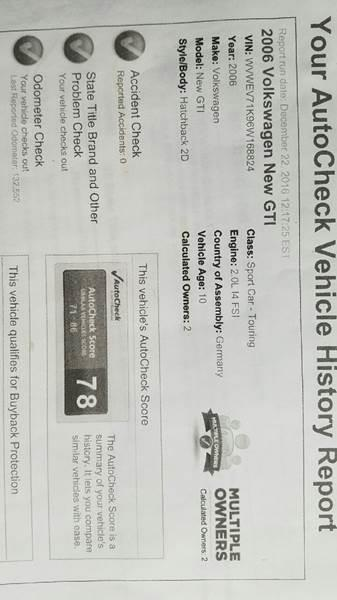 2006 Volkswagen GTI New 2dr Hatchback w/Manual - Spencerport NY