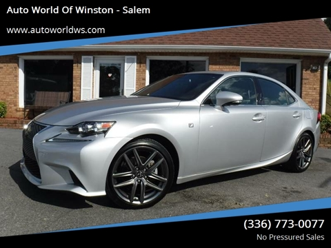 2015 Lexus IS 250 for sale at Auto World Of Winston - Salem in Winston Salem NC