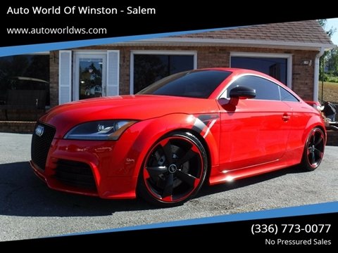 2013 Audi TT RS for sale at Auto World Of Winston - Salem in Winston Salem NC