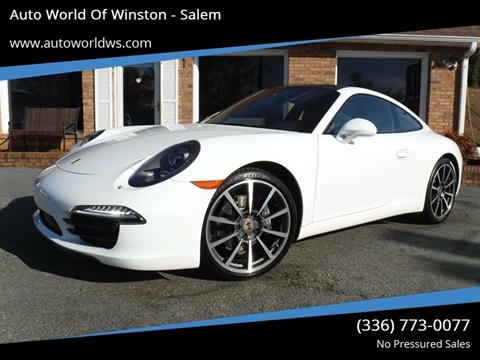 2014 Porsche 911 for sale at Auto World Of Winston - Salem in Winston Salem NC