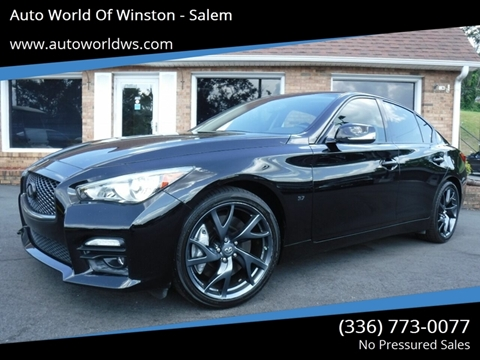 2015 Infiniti Q50 for sale at Auto World Of Winston - Salem in Winston Salem NC