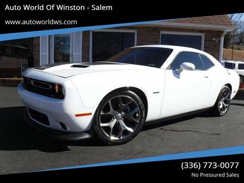 2015 Dodge Challenger for sale at Auto World Of Winston - Salem in Winston Salem NC