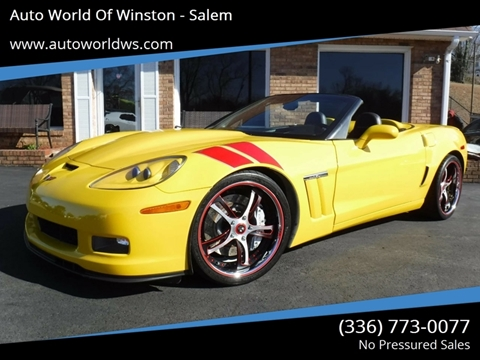 2010 Chevrolet Corvette for sale at Auto World Of Winston - Salem in Winston Salem NC