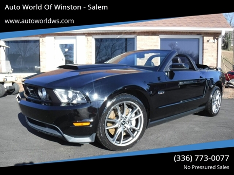 2012 Ford Mustang for sale at Auto World Of Winston - Salem in Winston Salem NC