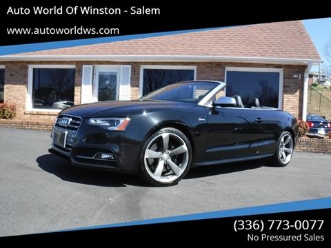 2016 Audi S5 for sale at Auto World Of Winston - Salem in Winston Salem NC