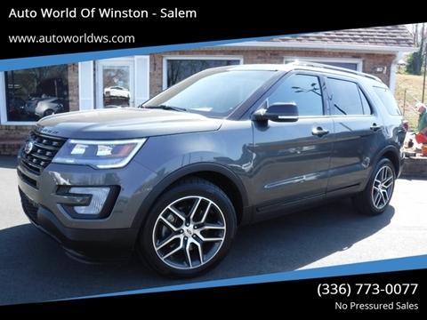 2016 Ford Explorer for sale at Auto World Of Winston - Salem in Winston Salem NC