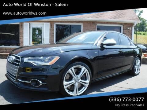 2013 Audi S6 for sale at Auto World Of Winston - Salem in Winston Salem NC