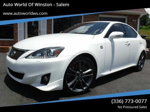2012 Lexus IS 350 for sale at Auto World Of Winston - Salem in Winston Salem NC