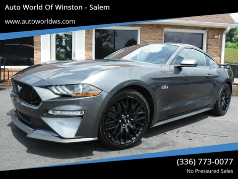2018 Ford Mustang for sale at Auto World Of Winston - Salem in Winston Salem NC