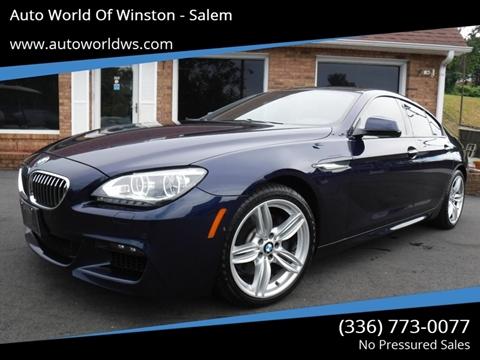 2014 BMW 6 Series for sale at Auto World Of Winston - Salem in Winston Salem NC