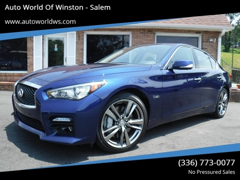 2016 Infiniti Q50 for sale at Auto World Of Winston - Salem in Winston Salem NC