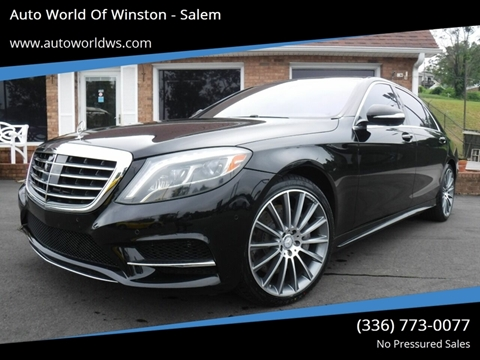 2015 Mercedes-Benz S-Class for sale at Auto World Of Winston - Salem in Winston Salem NC