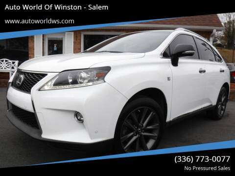 2015 Lexus RX 350 for sale at Auto World Of Winston - Salem in Winston Salem NC