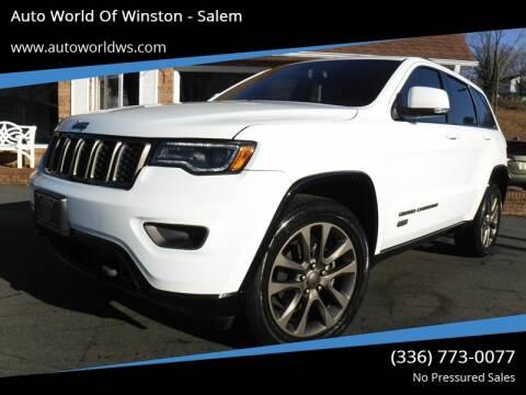 2016 Jeep Grand Cherokee for sale at Auto World Of Winston - Salem in Winston Salem NC