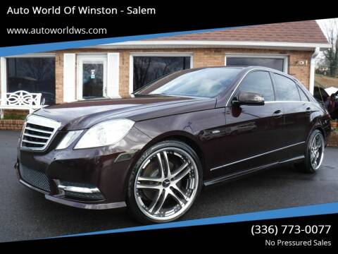 2012 Mercedes-Benz E-Class for sale at Auto World Of Winston - Salem in Winston Salem NC