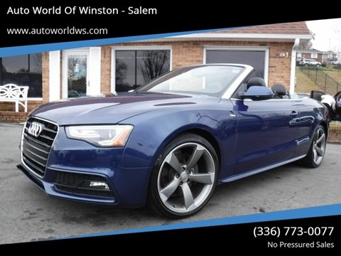 2015 Audi A5 for sale at Auto World Of Winston - Salem in Winston Salem NC