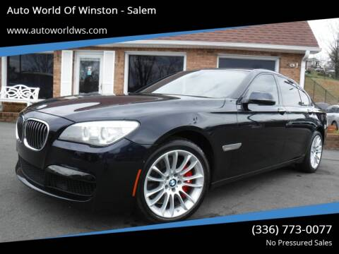2013 BMW 7 Series for sale at Auto World Of Winston - Salem in Winston Salem NC