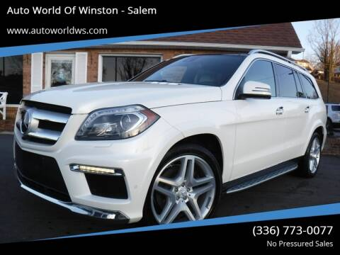 2015 Mercedes-Benz GL-Class for sale at Auto World Of Winston - Salem in Winston Salem NC
