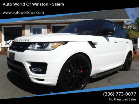 2016 Land Rover Range Rover Sport for sale at Auto World Of Winston - Salem in Winston Salem NC