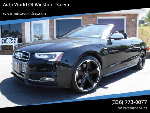 2017 Audi S5 for sale at Auto World Of Winston - Salem in Winston Salem NC