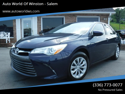 2015 Toyota Camry for sale at Auto World Of Winston - Salem in Winston Salem NC