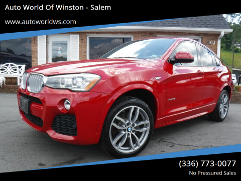 2015 BMW X4 for sale at Auto World Of Winston - Salem in Winston Salem NC