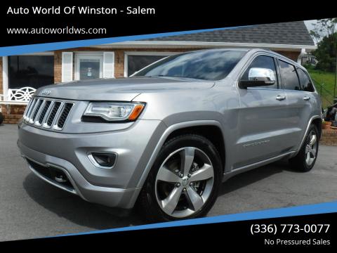 2014 Jeep Grand Cherokee for sale at Auto World Of Winston - Salem in Winston Salem NC