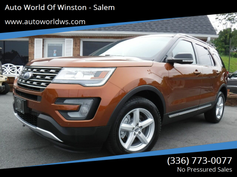 2017 Ford Explorer for sale at Auto World Of Winston - Salem in Winston Salem NC