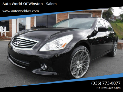2013 Infiniti G37 Sedan for sale at Auto World Of Winston - Salem in Winston Salem NC