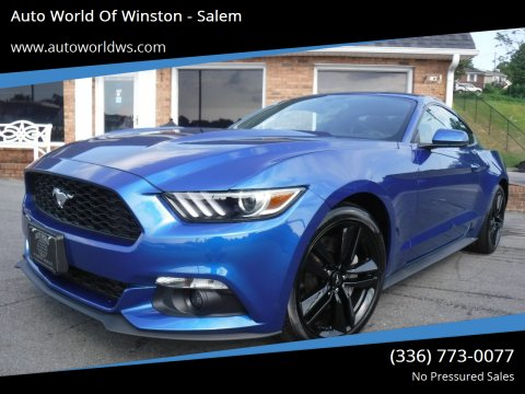 2017 Ford Mustang for sale at Auto World Of Winston - Salem in Winston Salem NC