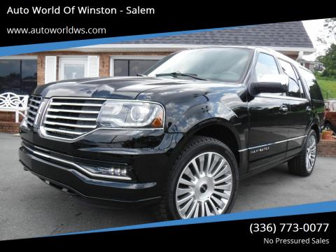 2017 Lincoln Navigator for sale at Auto World Of Winston - Salem in Winston Salem NC