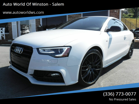 2016 Audi A5 for sale at Auto World Of Winston - Salem in Winston Salem NC