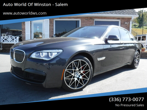 2015 BMW 7 Series for sale at Auto World Of Winston - Salem in Winston Salem NC