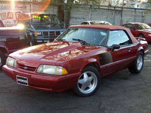 1989 Ford Mustang for sale at GREAT AUTO RACE in Chicago IL
