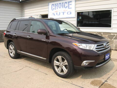 2013 Toyota Highlander for sale at Choice Auto in Carroll IA