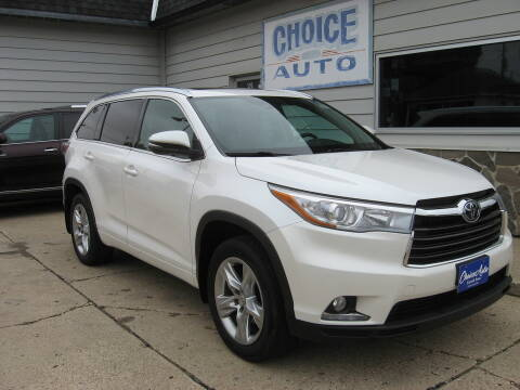 2015 Toyota Highlander for sale at Choice Auto in Carroll IA