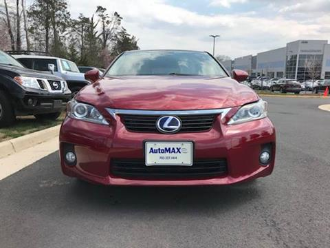 2012 Lexus CT 200h for sale at Automax of Chantilly in Chantilly VA