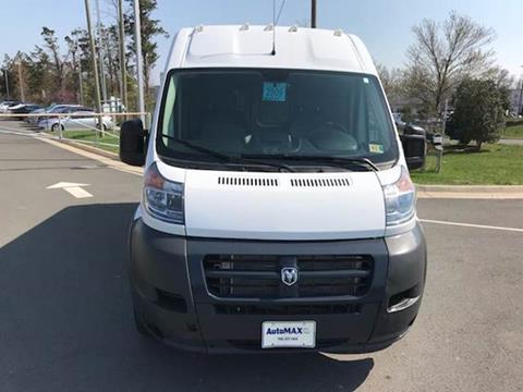 2017 RAM ProMaster Cargo for sale at Automax of Chantilly in Chantilly VA